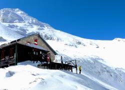 accesso invernale al rifugio Franchetti